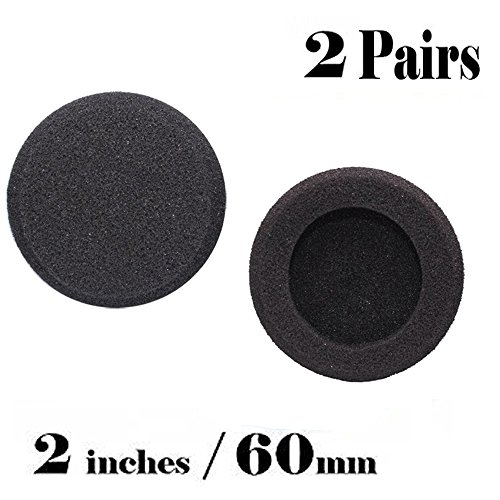 Tifmall Foam Pad Ear Pads Diameter 2 Inch For most standard size office headsets