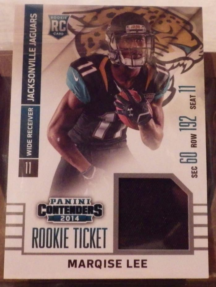 2014 PANINI CONTENDERS ROOKIE TICKET JERSEY #RTS-26 MARQISE LEE
