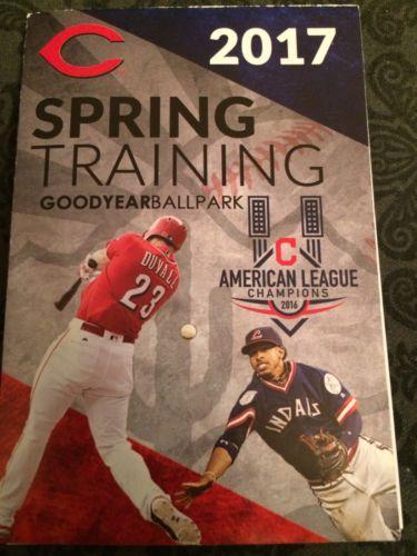 2017 Cleveland Indians & Cincinnati Reds 3 Spring Training Pocket Schedules