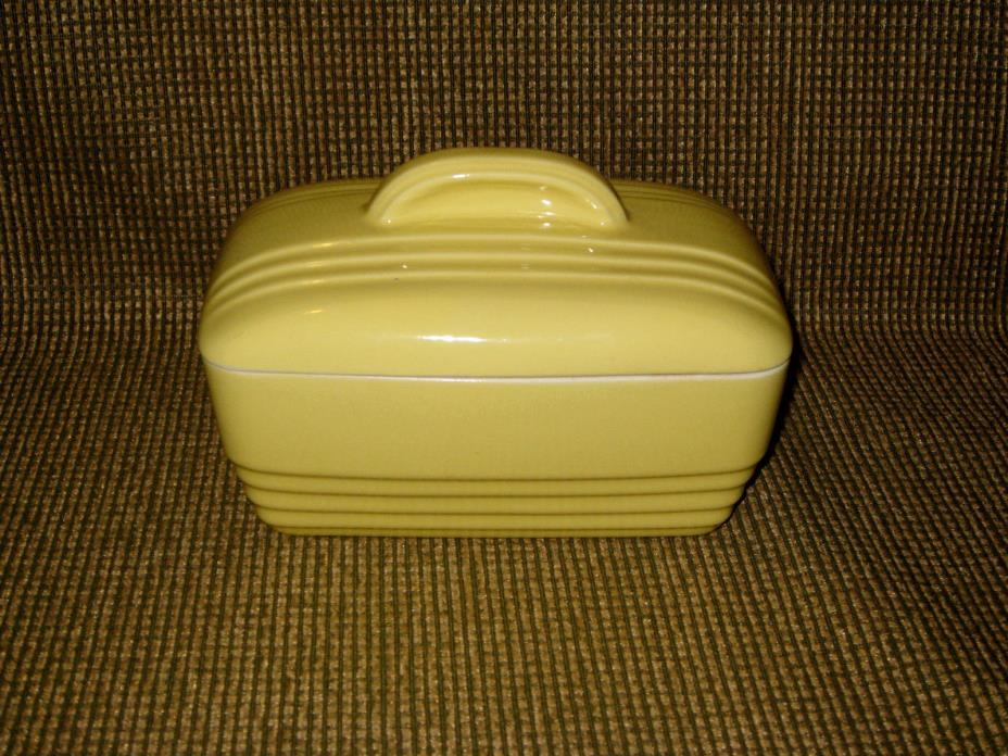 Vintage Hall China Yellow Refrigerator Covered Dish Westinghouse Advertising