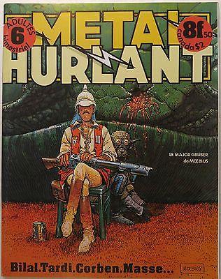 METAL HURLANT magazine #6 [Moebius, Richard Corben, Enki Bilal, Jacques Tardi]