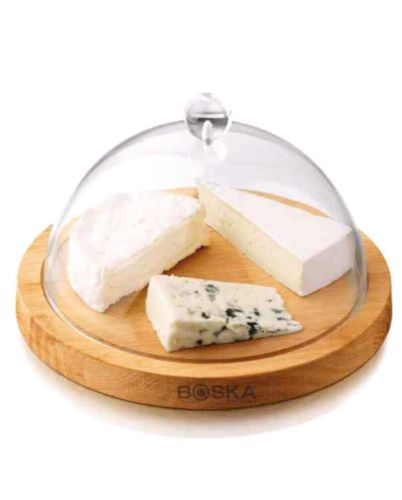 Boska Cheese Board Oak Wood with Cheese Dome, Cheese Accessories, 859002