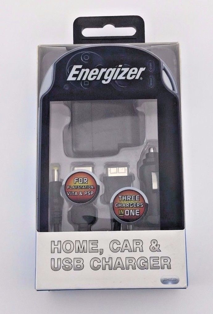Energizer Home Car & USB Charger for Sony PSP PS Vita 1000&2000 PL-9919 v2.3 NEW