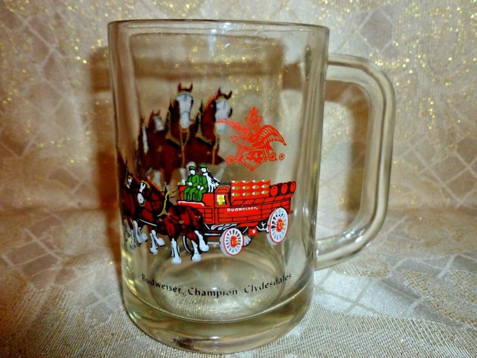 Budweiser Champion Clydesdales Glass Mug