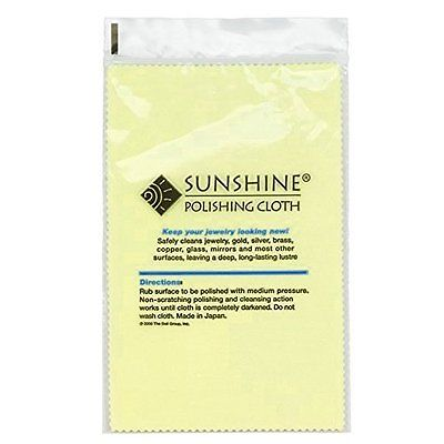 3 Polishing Buffing Sunshine Polishing Cloths for Sterling Silver, Gold, Brass