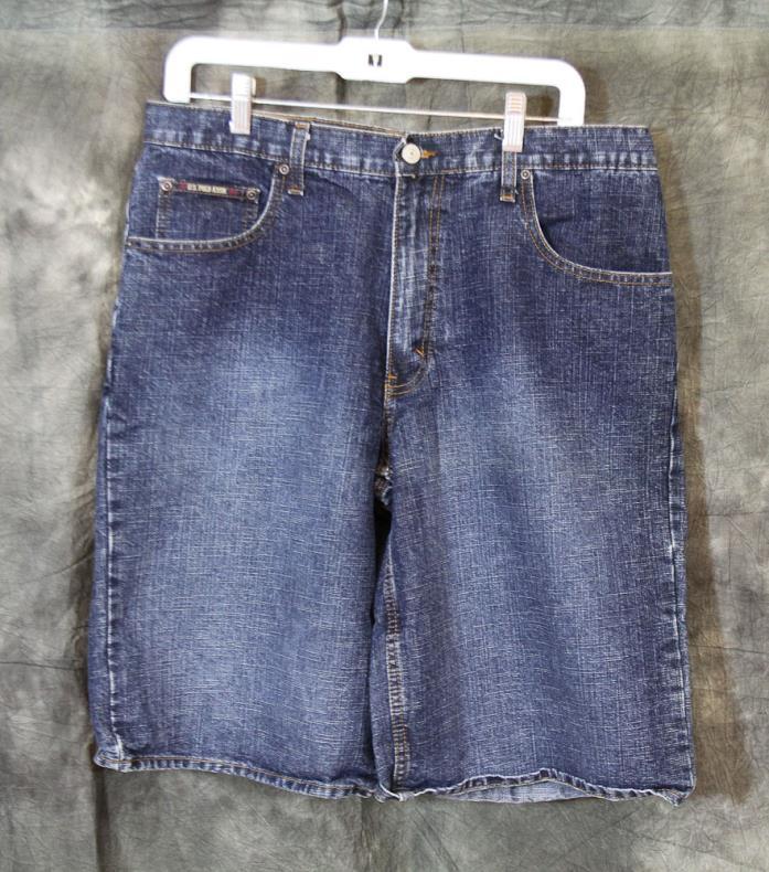Men's US POLO ASSN Size 34 Denim Blue Jean Shorts