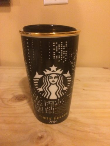 Starbucks New York City Times Square Broadway Ceramic Tumbler Mug Cup