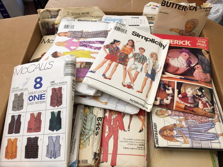 Sewing Vintage Patterns Lot Butterick McCall's Simplicity Crafts