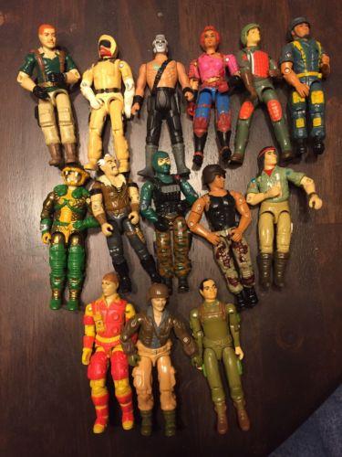 1980's gi joe action figures Lot Of 15