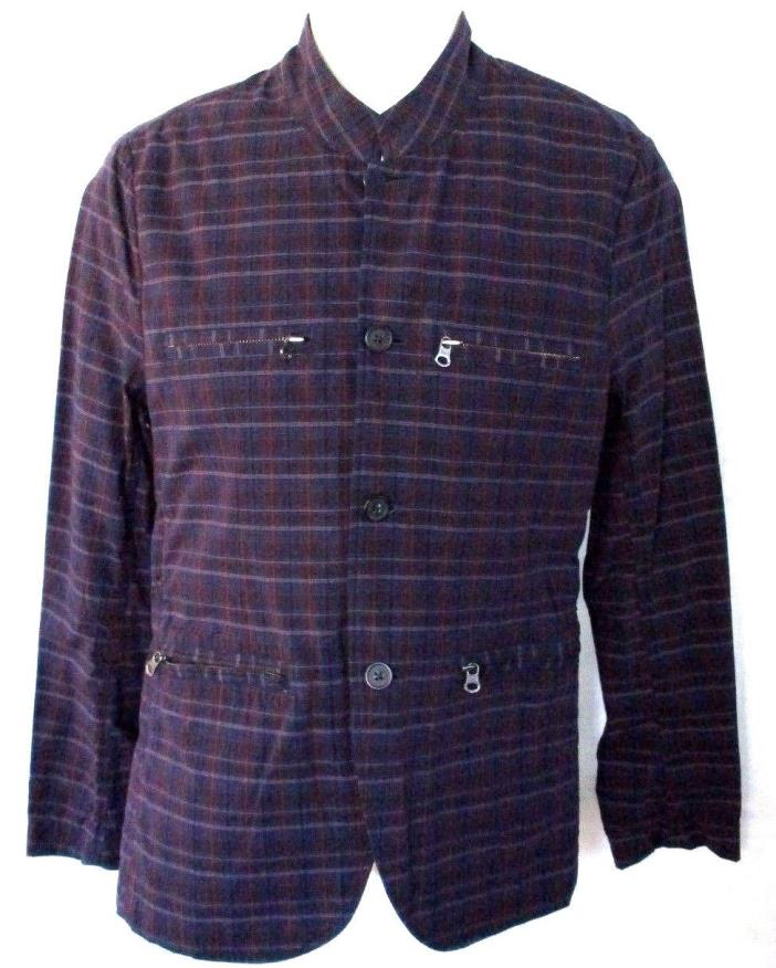MENS SONS OF INTRIGUE BLAZER PLAID JACKET SIZE S