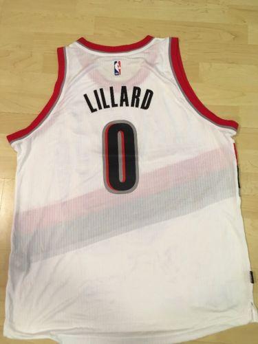NBA Damian Lillard Portland Trail Blazers Adidas Jersey (2XL)
