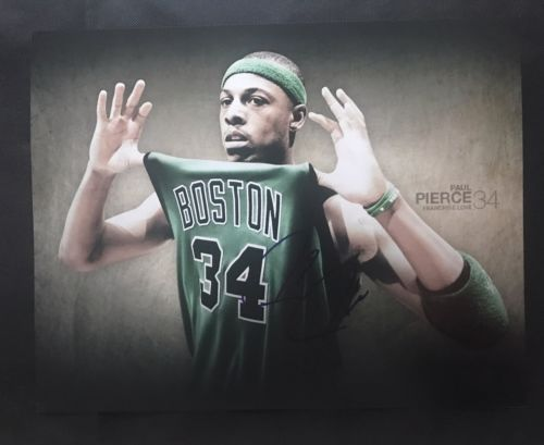 Paul Pierce Signed Boston Celtics 11x14 Photo