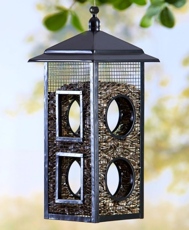 Wild Bird Feeder Fly-Thru Seed Holder 8 Entrys Outdoor Garden Yard Patio Decor