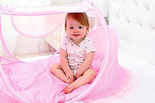 AUMEY Baby Travel Bed Crib Mosquito Ded Portable Baby Bed Folding Baby Mosquito