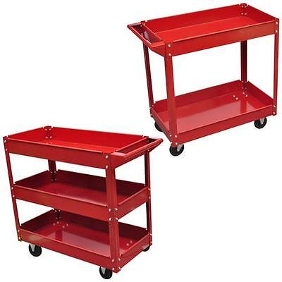 Rolling Utility Cart Dolly 220lbs Storage Shelves Workshop Tool 2/3 Tray 1/2 pcs