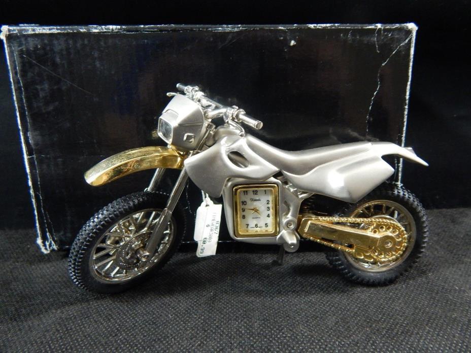 Miniature Clock Classic Collectors Replica HONDA DIRT BIKE MOTORCYCLE DIECAST