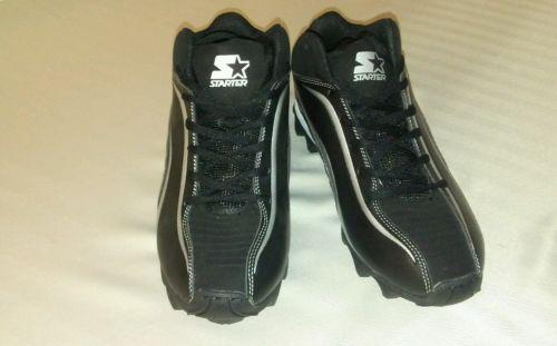 NWOT STARTER Mens Black Silver Cleats Soccer Baseball Size 7.5
