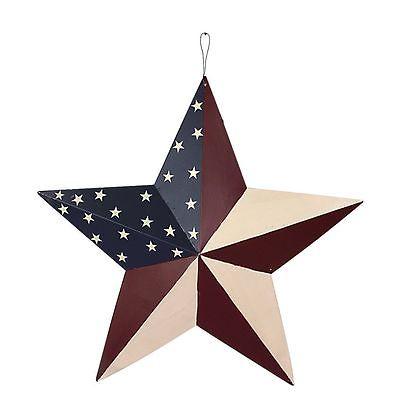 12''July 4th/Memorial Patriotic Old Glory American Flag  Barn 3D Star
