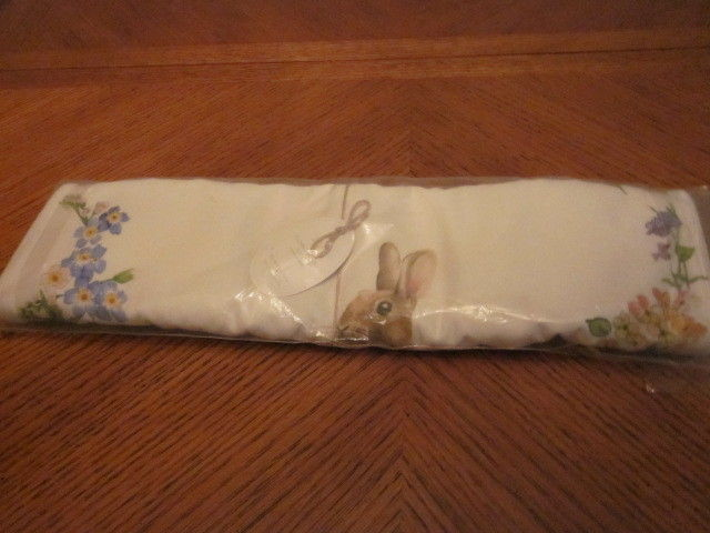 NWT Pottery Barn Floral Bunny Easter Rabbit Table Runner 18x108 - NIP With Tag