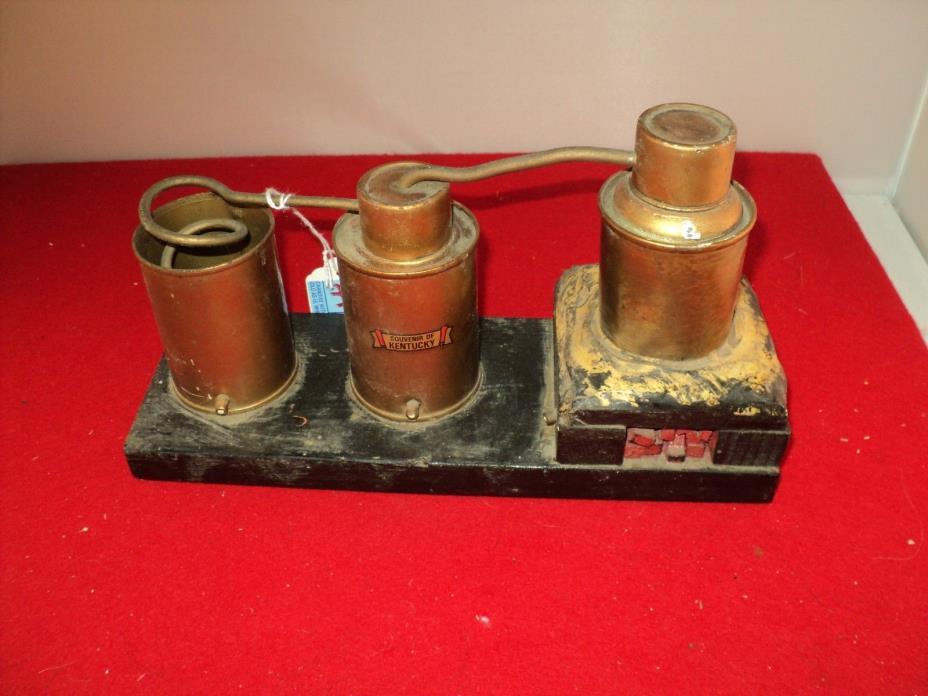Vintage Whiskey Moonshine Still KENTUCKY 1940s.Copper/Wood Souvenir.Ex Condition