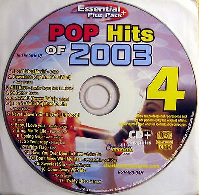 Chartbuster Karaoke - CBESP483 CDG - Disc 4R Pop Hits Of 2003