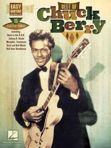 Chuck Berry Best Of Easy Guitar With Notes & Tab 15 Songs! Book NEW!