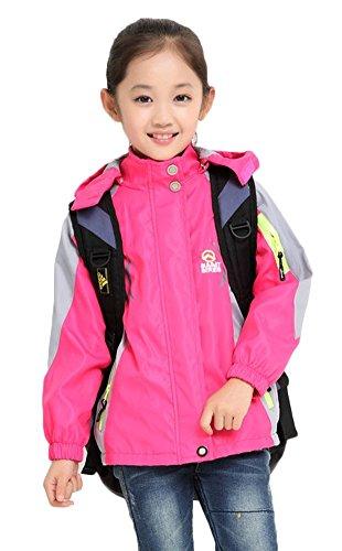 Girl's Athletic Outerwear Zip-up Waterproof Wind Jacket