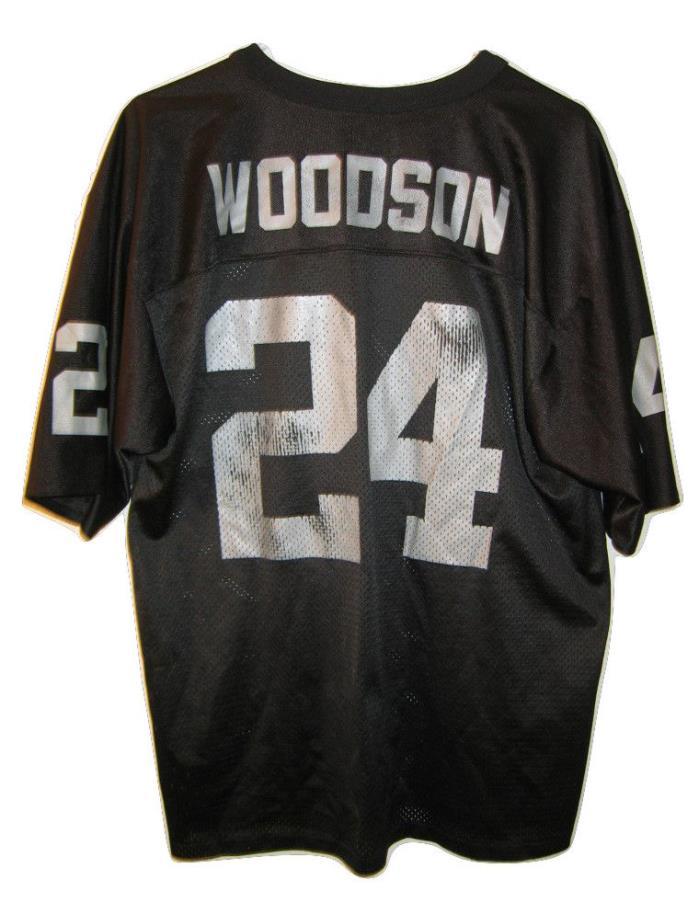 Vintage Logo Athletic NFL Oakland Raiders Football Charles Woodson Jersey M USA