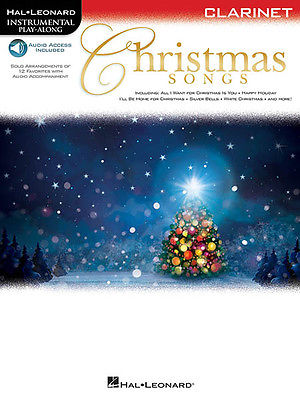 Christmas Songs for Clarinet Solo Sheet Music Play-Along Book Online Audio NEW