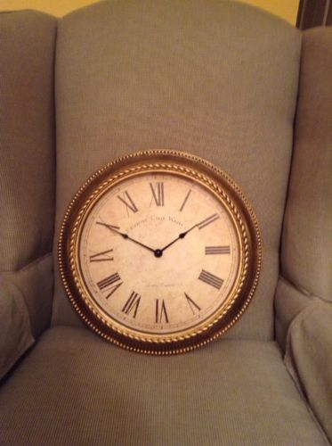 Gold Color Decorative Wall Clock