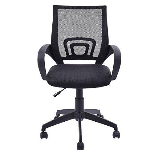 Ergonomic Mesh Computer Office Desk Task Midback Task Chair Black