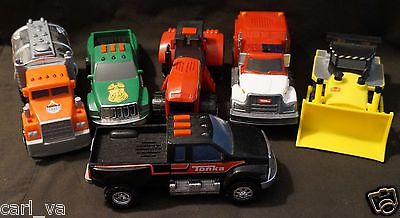 TOY BUNDLE TONKA TRUCKS & DOZER & TRACTOR LIGHTS AND SOUND NEW CONDITION