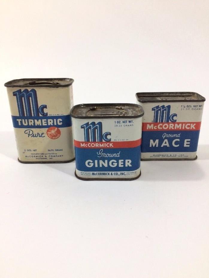 Mc McCormick Vintage Spice Tins - Set of 3