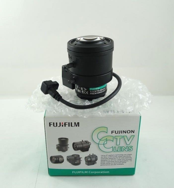 Fujinon YV3.3x15HR4A-SA2 15-50mm MP D/N CCTV DC Auto-Iris Megapixel Lens