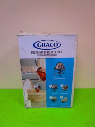 NEW Graco Soothing System Glider Baby Swing, Bouncer, Bassinet, Abbington