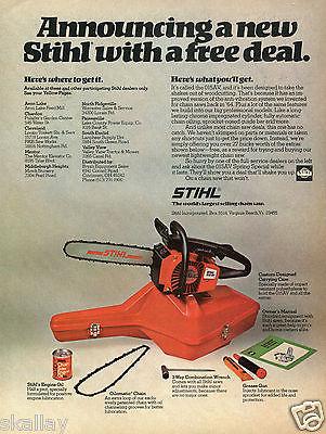 1977 Print Ad of Stihl 015AV Chain Saw