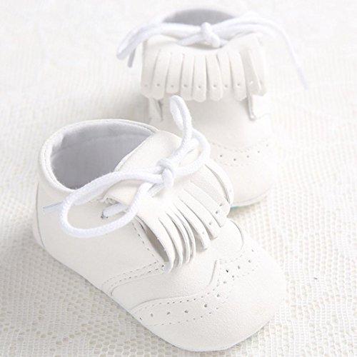 Sunward Baby Girl Or Boy Cute Lacing Leather Shoe Anti-slip Soft Sole Toddler