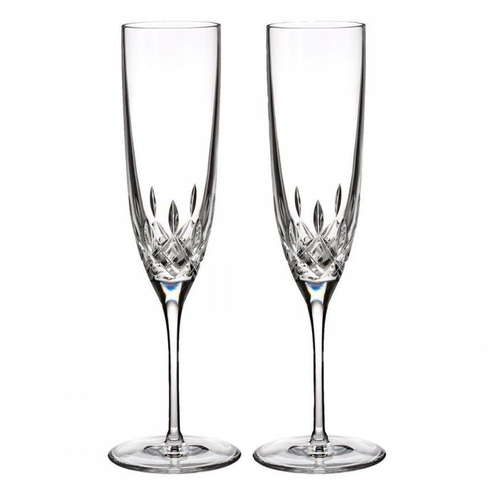 Waterford Crystal Lismore Encore Champagne Toasting Flute, X2 Pair BRAND New