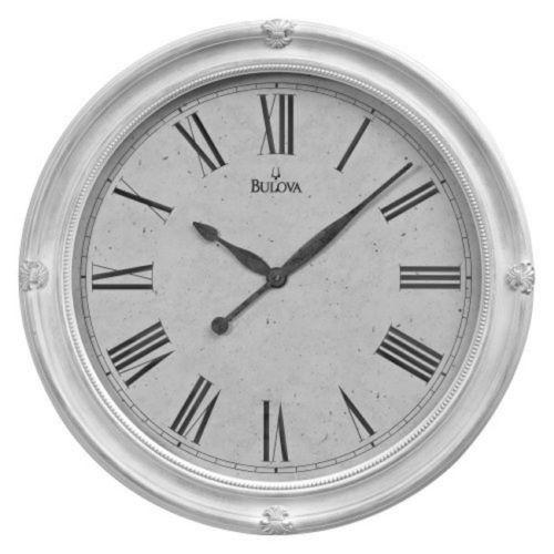 Bulova Hazelton Large Deco Wall Clock 27.5 Inch