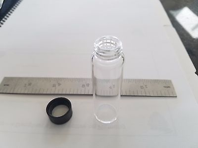 Glass Vials (10), Plastic caps (10),  1/2 oz., 15 ml +-, 4 dram. 1 TBSP.