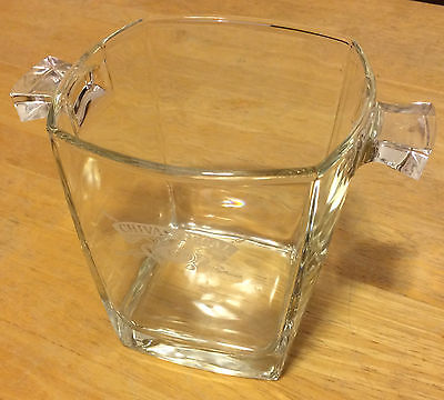 Chivas Regal ICE BUCKET clear crystal glass aged 12 years Scotch Whiskey square