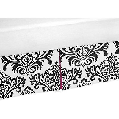 Hot Pink, Black and Bed Skirts White Isabella Bed Skirt for Toddler Bedding Sets