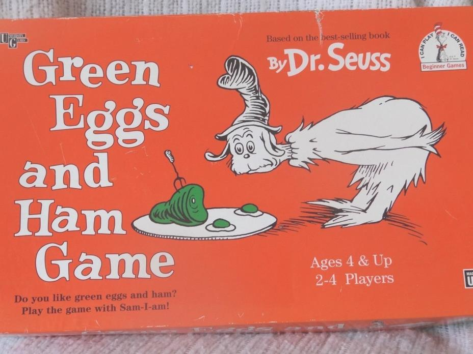 Dr. Seuss Green Eggs and Hame Game University Games Ages 4 and Up