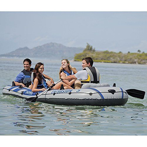 Small Fishing Boat Raft Boats For Intex Excursion 5 Set Portable Inflatable