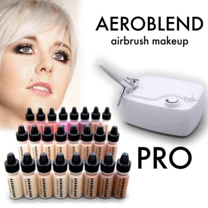 Aeroblend Airbrush Makeup PRO Starter Kit - Professional Cosmetic Airbrush...