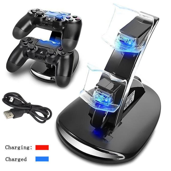 New Dual USB Charger Dock Station Stand For PS3 Wireless Bluetooth Controller