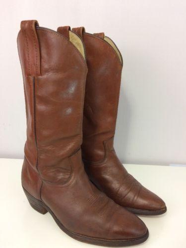 Fry Men's Vintage Cowboy Boots Size 10D