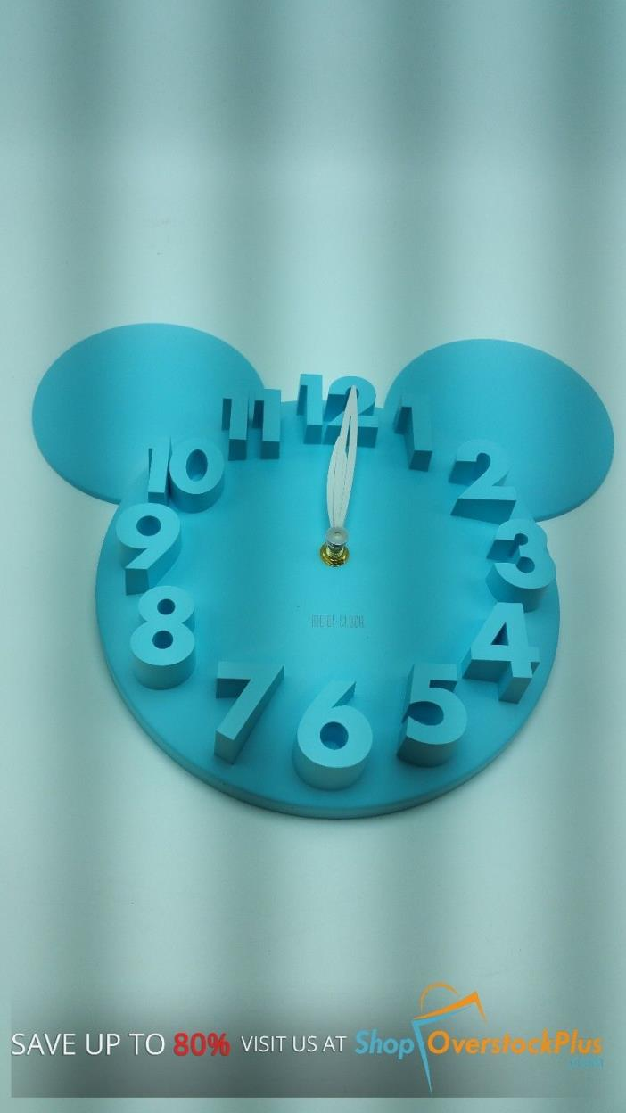 Modern Design Mickey Mouse Big Digit 3D Wall Clock Home Decor Decoration (384)