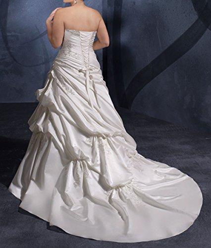 Harshori Womens Plue Size Sweetheart Plue Size Wedding Dress