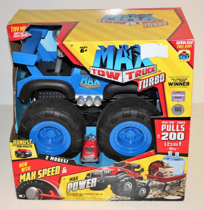 Max Tow Truck Turbo Speed Truck, Blue - WITH BONUS RED MINI HAULER    *NEW*